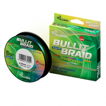 Шнур, Allvega, Bullit Braid Multicolor, 150 м