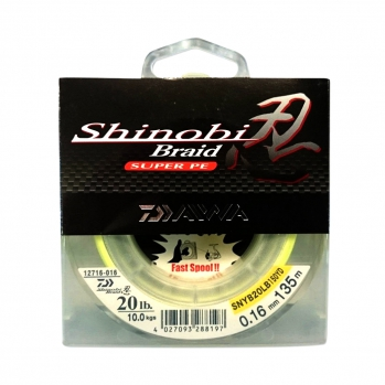 Шнур, Daiwa, Shinobi Braid-G, (0.12 мм), 135 м