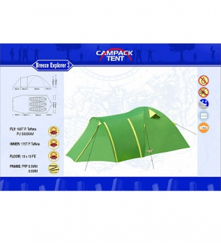 Палатка CAMPACK-TENT Breeze Explorer 3
